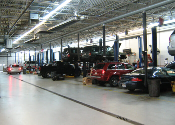 Motor Vehicle Areas<br> & Auto Repair Facilities